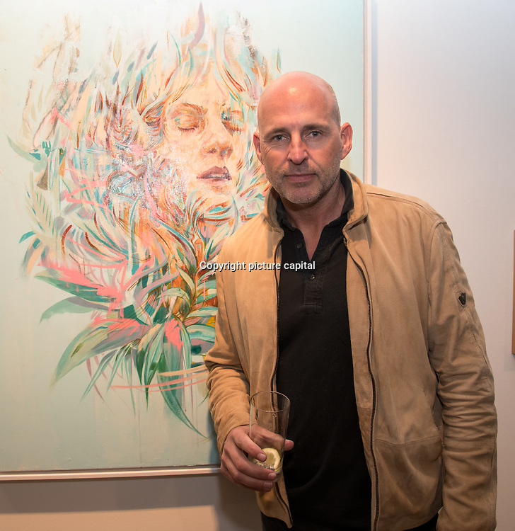 Nick Jeffries is an Entrepreneur and founder of nu: projects attend the Art On The Mind - Private view of an exhibition and auction which benefits homeless charity, Cardboard Citizens.