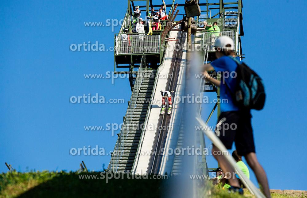 Katja Pozun during Ski jumping Summer cup - Revija skokov Mostec on June 7, 2015 in Mostec hill, Ljubljana, Slovenia. Photo by Vid Ponikvar / Sportida