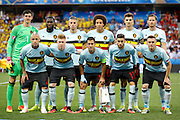 Belgium team before the Euro 2016 match between Sweden and Belgium at Stade de Nice, Nice, France on 22 June 2016. Photo by Andy Walter.