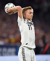 FUSSBALL UEFA Nations League in Muenchen Deutschland - Frankreich       06.09.2018 Marco Reus (Deutschland) beim Einwurf --- DFB regulations prohibit any use of photographs as image sequences and/or quasi-video. ---