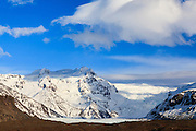 Svinafellsjokull glacier. Vatnajokull National Park. Iceland.