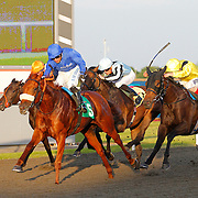 Maria Bella and S De Sousa winning the 8.20 race
