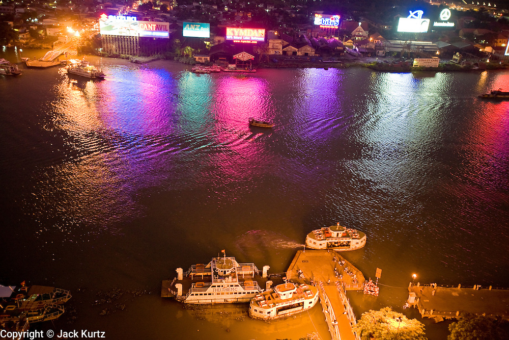 08 MARCH 2006 - HO CHI MINH CITY, VIETNAM: The Saigon River as seen from the roof of the Majestic Hotel in Ho Chi Minh City, Vietnam. HCMC is still widely known as Saigon. PHOTO BY JACK KURTZ