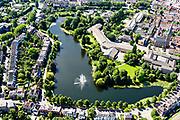 Nederland, Gelderland, Gemeente Zutphen, 17-07-2017; Noordelijk deel Zutphen met in de voorgrond Grote Gracht en gebouw van Het Stedelijk.<br /> Northern part Zutphen.<br /> <br /> luchtfoto (toeslag op standard tarieven);<br /> aerial photo (additional fee required);<br /> copyright foto/photo Siebe Swart