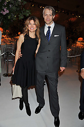 NICOLE HAMBRO and SVEN HAILE at a dinner hosted by Cartier following the following the opening of the Chelsea Flower Show 2012 held at Battersea Power Station, London on 21st May 2012.