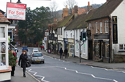 © Licensed to London News Pictures. 27/01/2012. Wendover, UK. The town of Wendover, Buckinghamshire with is close to the planned route for the new HS2 (High Speed Rail 2). Scheduled to be completed by 2033, the new Rail system will have huge effects on the traditional English town. Photo credit : Ben Cawthra/LNP