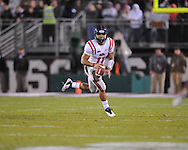 Ole Miss' Barry Brunetti (11) vs. Mississippi State in Starkville, Miss. on Saturday, November 26, 2011.