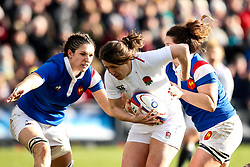 Katy Daley-Mclean of England Women is tackled - Mandatory by-line: Robbie Stephenson/JMP - 10/02/2019 - RUGBY - Castle Park - Doncaster, England - England Women v France Women - Women's Six Nations