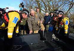 Prince Charles visits Flood Victims on the Somerset Levels, South West England. Members of the community have been cut off by the floods for most of 2014. Tuesday, 4th February 2014. Picture by Andrew Parsons / i-Images