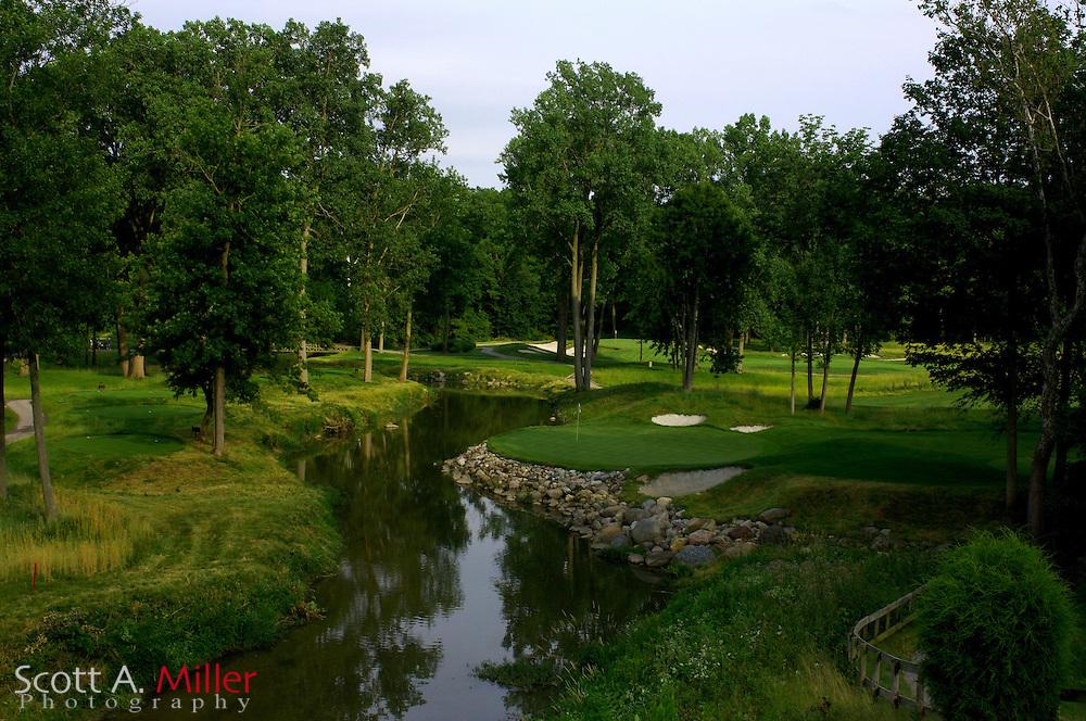 Zionsville, Ind.:  June 22, 2006 - 16th hole at the Wolf Run Golf Club.....© 2006 Scott A. Miller