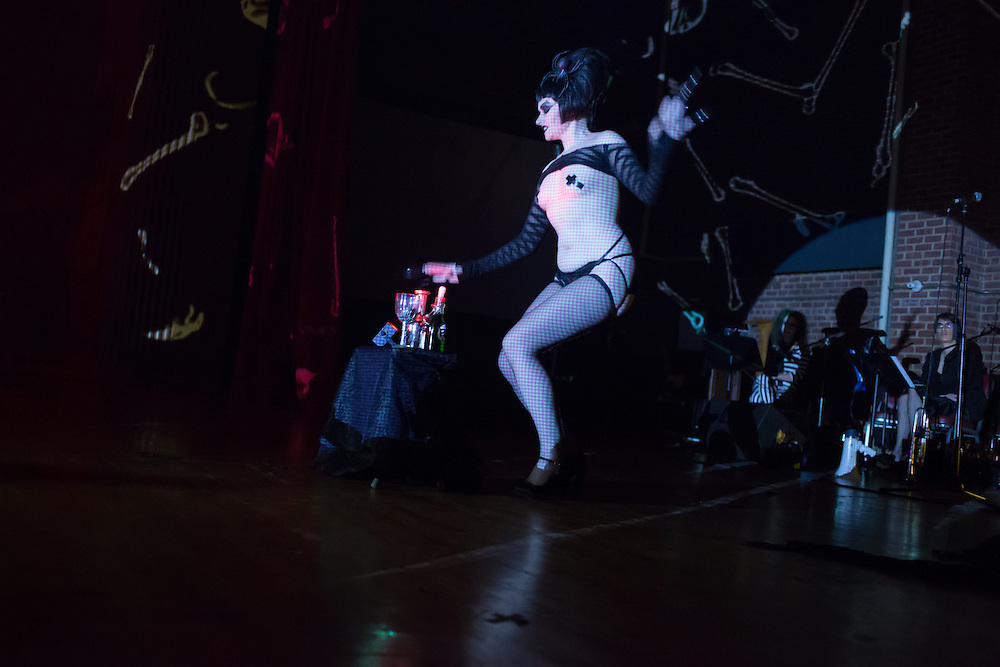 Ruby Valentine performs a burleque number at the Phantasmagorey Ball.