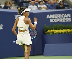 September 5, 2018 - New York, New York, United States - Madison Keys of USA reacts during US Open 2018 quarterfinal match against Carla Suarez Navarro of Spain at USTA Billie Jean King National Tennis Center (Credit Image: © Lev Radin/Pacific Press via ZUMA Wire)