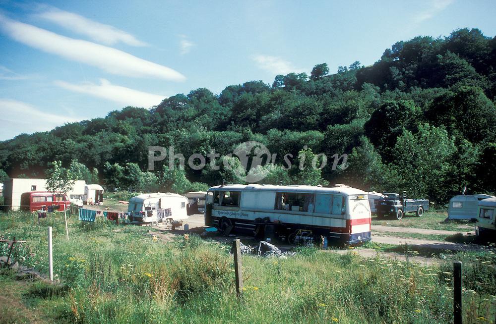 New Age travellers campsite;Hebden Bridge; W,Yorks
