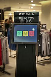 Encantômetro das lojas Renner é um equipamento para pesquisa de Satisfação de Clientes. FOTO: Jefferson Bernardes / Agência Preview