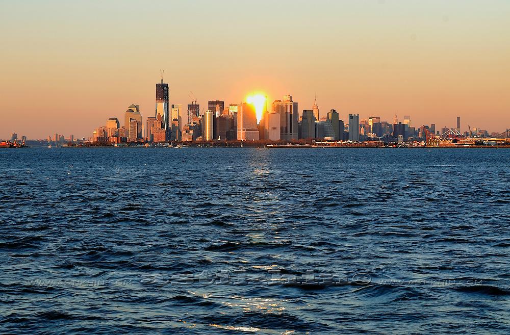 Sunset in New York City.