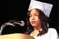 Parlie Freeman delivers the benediction during the Paul Laurence Dunbar High School commencement in the Dayton Convention Center in downtown Dayton, Wednesday, May 23, 2012.