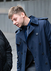 Charlie Watts, 26, leaves Highbury Corner Magistrates court where he was facing charges of throwing a bottle onto the pitch during a North London Derby between Arsenal and Tottenham Hotspur. London, December 18 2018.
