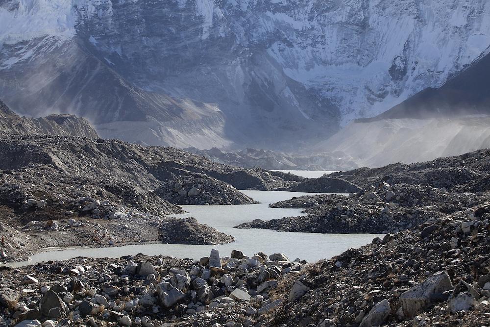 October 2009 WWF Everest - Imja Lake - shots taken on the moraine