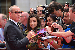 Bula Quo UK film premiere.  <br /> Francis Rossi attends premiere of Status Quo action film featuring 12 of the rock band's classic tracks. Directed by former stunt co-ordinator Stuart St Paul, starring Jon Lovitz, Craig Fairbrass, Laura Aikman and the band members themselves. Released July 5. Odeon West End, London, United Kingdom.<br /> Monday, 1st July 2013<br /> Picture by Nils Jorgensen / i-Images