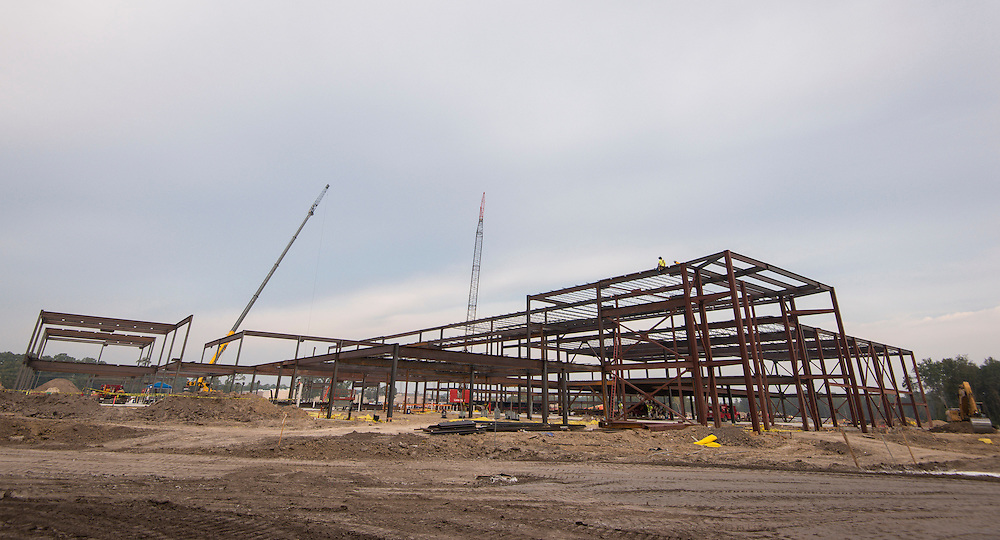 Construction of the new North Forest High School, October 9, 2015.