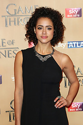 © Licensed to London News Pictures. 18/03/2015, UK. Ian Nathalie Emmanuel (Missandei), Game of Thrones - Series Five World Premiere, Tower of London, London UK, 18 March 2015. Photo credit : Richard Goldschmidt/Piqtured/LNP