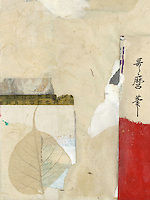"||| Elena Ray Abstract collage with asian elements. Patchwork mixed medium collages with asian and abstract elements. Doko means ""where"" in Japanese."