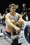 Birmingham, Great Britain,   Men's open weight  Peter REED, Beijing Gold Medalist, Men's four competes at the British Indoor Rowing Championships, National Indoor Arena, NIA, Sun, 22.11.2009  [Mandatory Credit. Peter Spurrier/Intersport Images]
