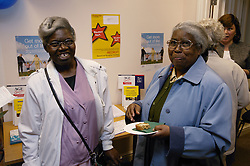 Visitors at an Age Concern show,