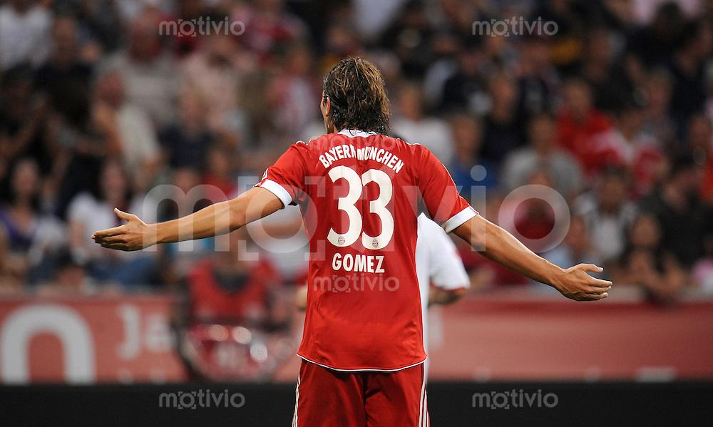 Fussball  International   Audi Cup 2009   29.07.2009 FC Bayern Muenchen - AC Mailand  Mario Gomez (FCB)