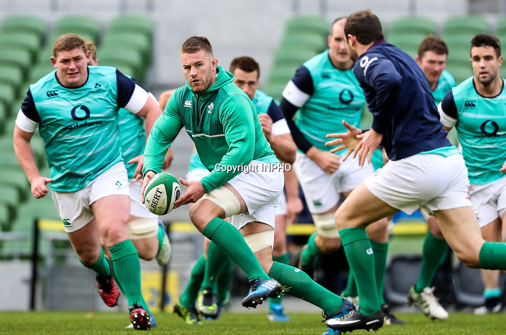 Ireland Rugby Captain's Run, Aviva Stadium, Dublin 18/11/2016<br /> Sean O'Brien<br /> Mandatory Credit &copy;INPHO/Billy Stickland