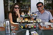 Singapore. Teatime at Fullerton Hotel.