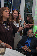 V.S. NAIPAUL, The Man Booker prize 2012 drinks to celebrate the shortlist. The Orangery, Holland Park. London. 11 September 2012.