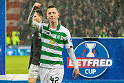 *** during the Betfred Scottish League Cup Final match between Rangers and Celtic at Hampden Park, Glasgow, United Kingdom on 8 December 2019.