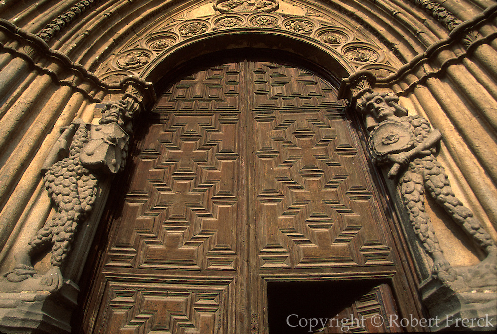 SPAIN, CASTILE, AVILA Cathedral; stone entrance figures