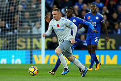 Wayne Rooney of Everton goes past Wilfred Ndidi of Leicester City - Mandatory by-line: Robbie Stephenson/JMP - 29/10/2017 - FOOTBALL - King Power Stadium - Leicester, England - Leicester City v Everton - Premier League