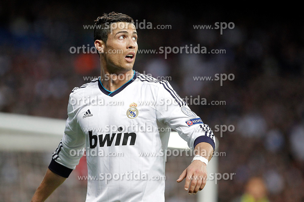 30.04.2013, Estadio Santiago Bernabeu, Madrid, ESP, UEFA CL, Real Madrid vs Borussia Dortmund, Halbfinale, Rueckspiel, im Bild Real Madrid's Cristiano Ronaldo reacts // during UEFA Champions League 2nd Leg Semifinal Match between Real Madrid and Borussia Dortmund at the Estadio Santiago Bernabeu, Madrid, Spain on 2013/04/30. EXPA Pictures © 2013, PhotoCredit: EXPA/ Alterphotos/ Alvaro Hernandez..***** ATTENTION - OUT OF ESP and SUI *****