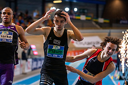 Maarten Plaum comes in second during the 800 meters on Dutch Indoor Athletics Championship on February 23, 2020 in Omnisport De Voorwaarts, Apeldoorn