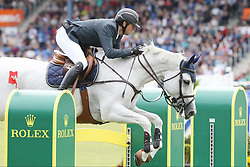 23.07.2017, Aachener Soers, Aachen, GER, CHIO Aachen, im Bild Gewinner, Sieger, 1. Platz: Gregory Wathelet (BEL) auf seinem Pferd Coree // during the CHIO Aachen World Equestrian Festival at the Aachener Soers in Aachen, Germany on 2017/07/23. EXPA Pictures © 2017, PhotoCredit: EXPA/ Eibner-Pressefoto/ Roskaritz<br /> <br /> *****ATTENTION - OUT of GER*****