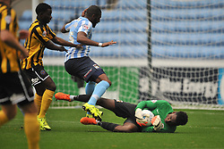 Coventrys Keeper Reice Charles Cook, and defender Reda Johnson deny Shrewsburys attack, Coventry City v Shreswsbury Town FC  Ricoh Arena, Football Sky Bet League One, Saturday 3rd October 2015
