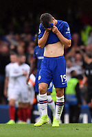 Football - 2019 / 2020 Premier League - Chelsea vs. Sheffield United<br /> <br /> Chelsea's Mason Mount dejected as Sheffield United's Lys Mousset scores his side's equalising goal to make the score 2-2, at Stamford Bridge.<br /> <br /> COLORSPORT/ASHLEY WESTERN
