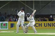 31/05/2002.Sport -Cricket - 2nd NPower Test -Second Day.England vs Sri Lanka.Prasanna Jayawardene batting with Alex Stewart keeping wicket. [Mandatory Credit Peter Spurrier:Intersport Images]