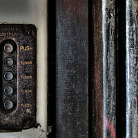Lift controls in Laybourne Grange accommodation