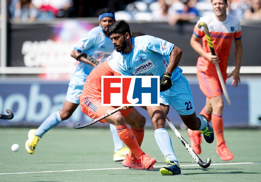 BREDA - Rabobank Hockey Champions Trophy<br /> The Netherlands - India<br /> Photo: Varun Kumar.<br /> COPYRIGHT WORLDSPORTPICS FRANK UIJLENBROEK