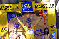 Bildnummer: 02972848  Datum: 18.07.2007  <br /> <br /> Mickael Rasmussen (Danemark / Rabobank) im gelben Trikot bei der Tour de France 2007 - <br /> <br /> Norway only