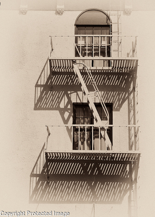 Fire escape in Avalon