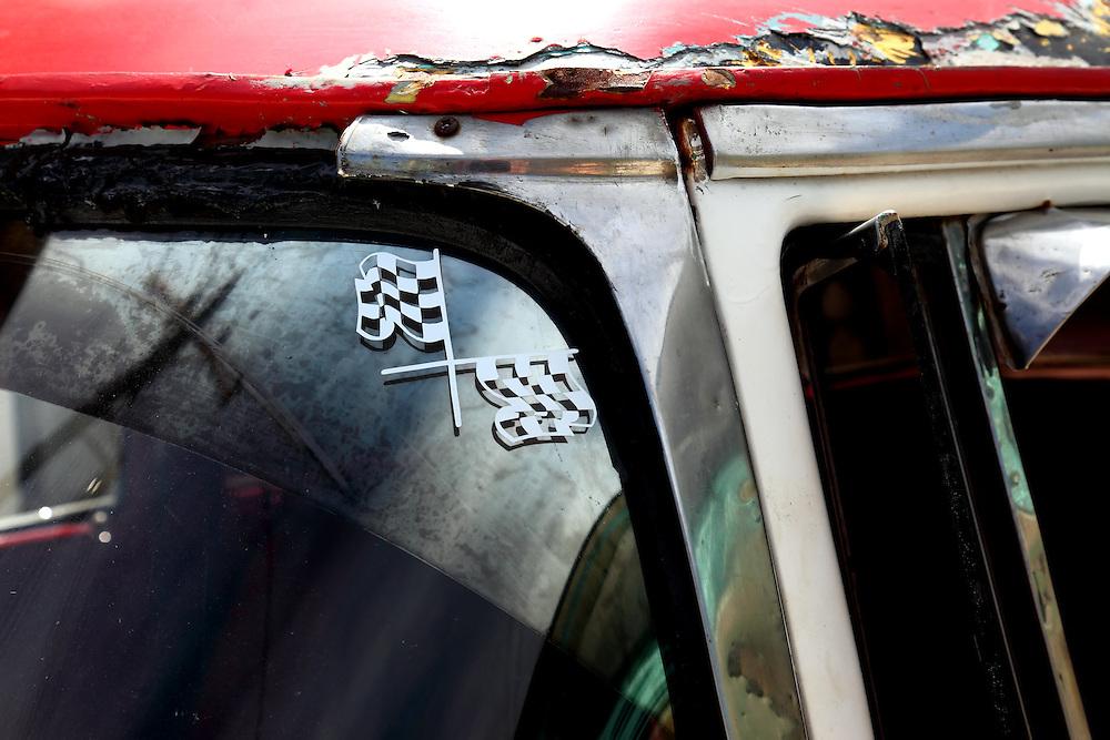Rusty car in Santa Cruz del Norte, Mayabeque, Cuba.