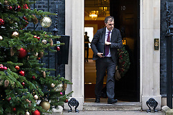 © Licensed to London News Pictures. 19/12/2017. London, UK. Conservative Chief Whip Julian Smith leaves 10 Downing Street after the weekly Cabinet meeting. Photo credit: Rob Pinney/LNP