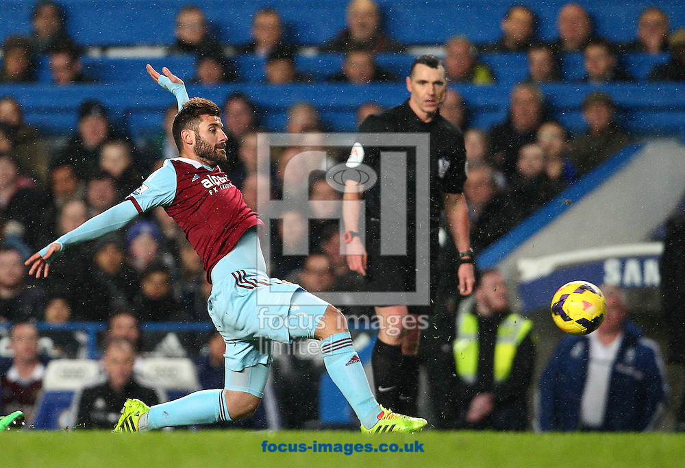 Picture by Paul Terry/Focus Images Ltd +44 7545 642257<br /> 29/01/2014<br /> Antonio Nocerino of West Ham United during the Barclays Premier League match at Stamford Bridge, London.
