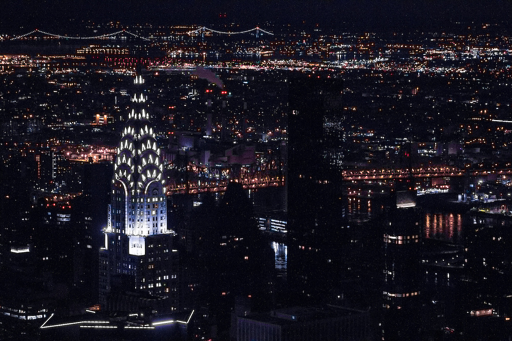 The Chrysler Building and Manhattan seen from the top of the Empire State Building      © Dan Butler Photography - All rights are reserved. My images may not be used or edited without my permission.