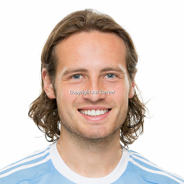 Mar 3, 2015; New York City FC player Mix Diskerud poses for a photo.